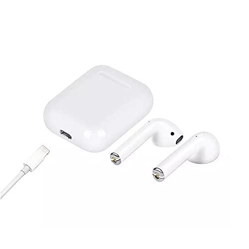 Auricular Bluetooth inalámbrico IPX-5 impermeable con Bluetooth 5.0, emparejamiento automático blanco, compatible con Android iPhone Case blanco