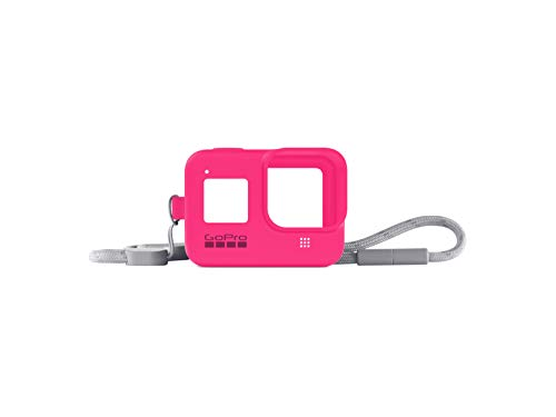 GoPro Hülle + Trageband für HERO8 Black - Electric Pink (Offizielles GoPro Zubehör) Rosa