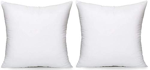 CnA Stores 19' x 19' Inch Square Cushion Inner Hollowfibre Pads OVER FILLED - Non Allergenic Pack of 2