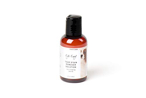 Eye Envy Tear Stain Remover Solution for Dogs|100% Natural,Safe|Recommended by Breeders/Vet/Professional Handlers/Groomers|Contains colloidal Silver|Remove Stains from White/Light Fur,Skin Folds,2oz