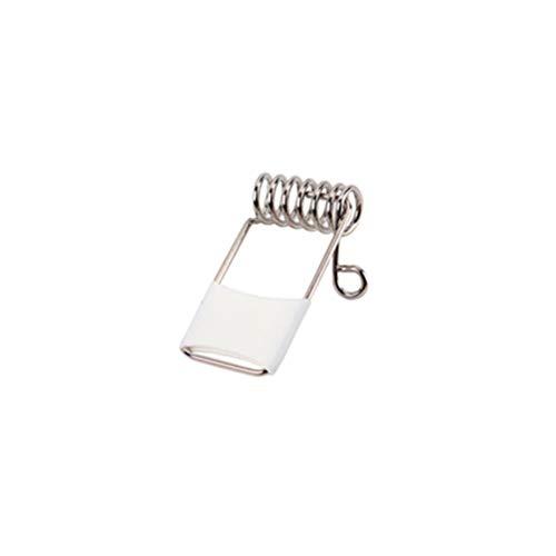 Milisten Clip de tubo de clip de resorte de 30 piezas para lámpara de techo de alta dureza, accesorio de proyector LED Panel de luz de resorte clip (plata)