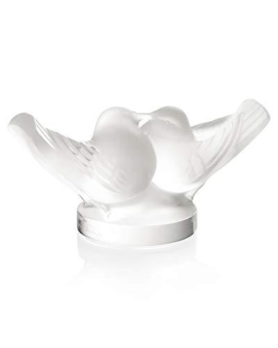 Lalique 10605 Sigillo con uccellini innamorati, in cristallo