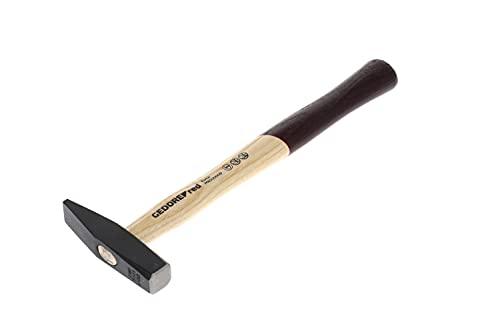 GEDORE red Schlosserhammer mit Holzgriff, 200 g Kopfgewicht, Hammer mit Eschenstiel, Werkzeug, geschmiedet, R92100008