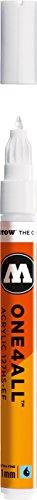Molotow ONE4ALL - Pennarello per pittura acrilica, 1 mm, extra fine, colore bianco segnale, 127.102