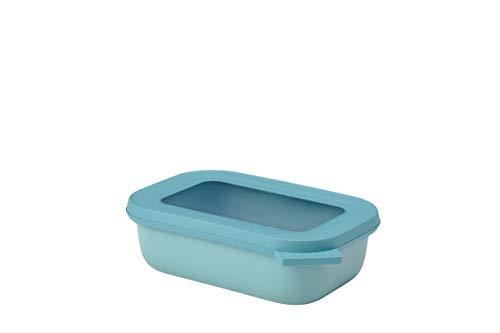 Mepal Multischüssel Cirqula rechteckig 500 ml Nordic Green – Frischhaltedose – Aufbewahrungsbox – stapelbar – spülmaschinenfest, Polypropyleen