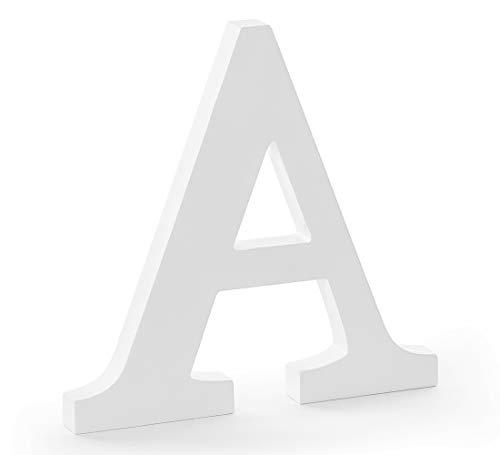DekoHaus Weiß Holzbuchstabe A 21,5 x 20 cm