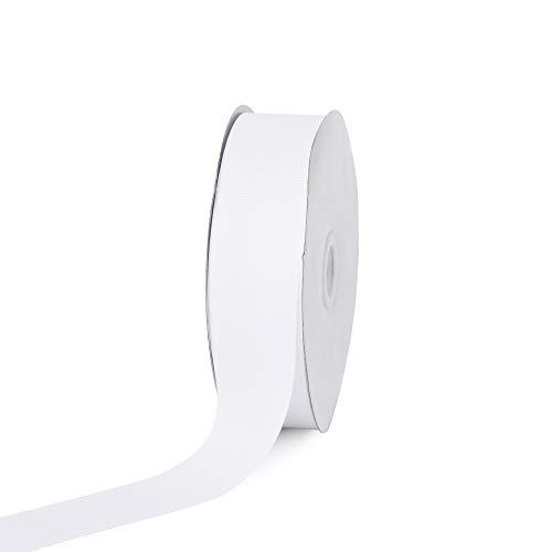 Creative Ideas Solid Grosgrain Ribbon, 1-1/2-Inch by 50-Yard, White