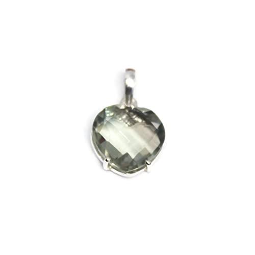 Collar con colgante de piedras preciosas de amatista verde natural 925 de plata esterlina para mujer colgante de joyería genuina Ravaria