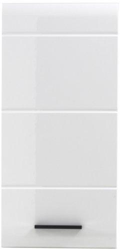 trendteam 1116-501-01 Bad Hängeschrank Skin 30 x 77 x 23 cm, Hochglanz-weiß