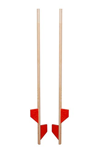 AZZAP Holzstelzen 140cm ROT Holz Stelzen Kinderstelzen Ballance