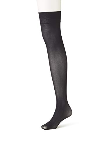 [靴下屋]クツシタヤ60デニールニーハイソックス22.0~25.0cm日本製無地靴下クロ