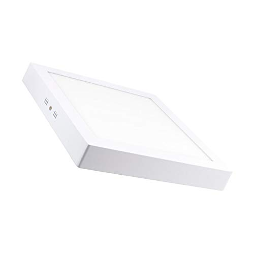 LEDKIA LIGHTING Plafón LED 24W Cuadrado Blanco Neutro 4000K - 4500K