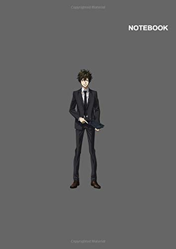 Psycho-Pass Anime Boy Notebook Cover: 110 Pages, Classic Lined pages, (8.27 x 11.69 inches) A4.
