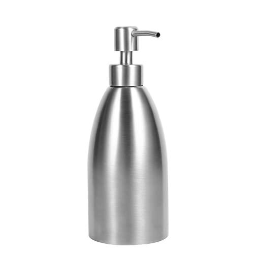 GOTOTOP Dispensador de jabón, dispensador de jabón de Acero Inoxidable de 500 ml, Fregadero de Cocina, Grifo, Caja de champú para baño, contenedor de jabón
