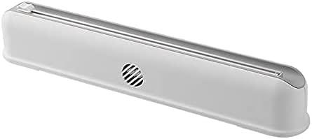 Dispensador de embalaje de película adhesiva rellenable de hoja/película de corte dispensador de la máquina se aferra separador de película herramienta de cocina blanca