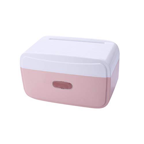 TOPBATHY toiletpapier houder gratis ponsen muur mount waterdichte Roll papier Tissue Dispenser voor toilet badkamer groen, 24.5x13x15cm, roze