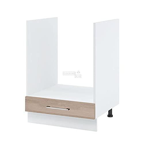 Cuisineandcie - Meuble pour four encastrable - L 60 cm - décor chêne naturel