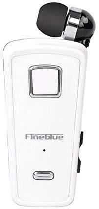 Fineblue F980 Auriculares Clip-on Bluetooth 4.0 Inalámbrico Auricular in-ear Auriculares estéreo manos libres originales portabilidad escalable con micrófono, conexión multipunto (blanco)