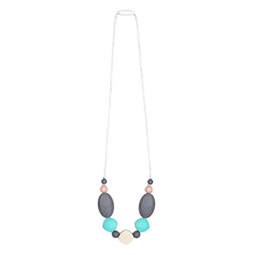 Goobie Baby Luna Silicone Teething Necklace for Mom to Wear, Nursing Necklace Chew Bead
