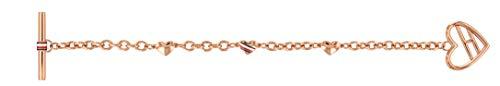 Tommy Hilfiger Women's Jewelry Heart Toggle Bracelet Color: Carnation (Model: 2780113)