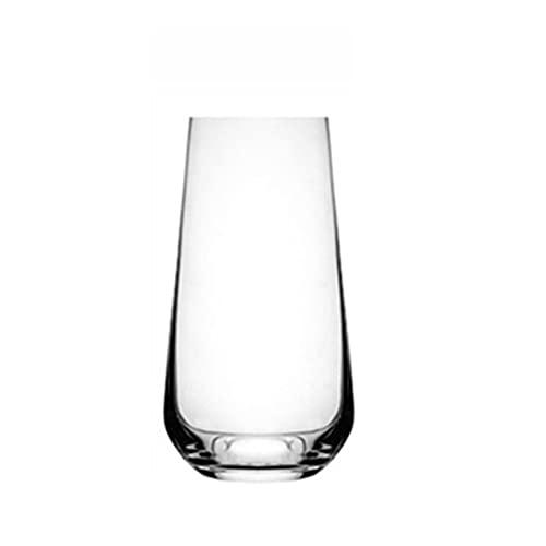 Vaso para beber, jugo de leche, vaso de vino extranjero y vaso de whisky, vidrio transparente sin plomo, un juego de 2 largos A3