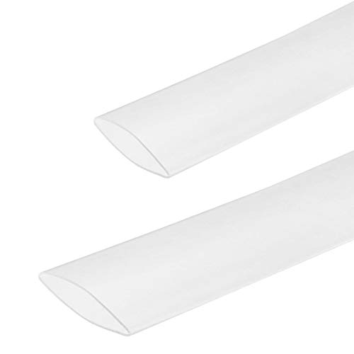 """3/4"""" Inner Diameter Clear 3:1 Ratio Polyolefin Heat Shrink Tubing Dual Wall with Adhesive Glue Electrical Wire Cable Connection Protector Sleeving Marine Tuner Motec 5 FEET"""