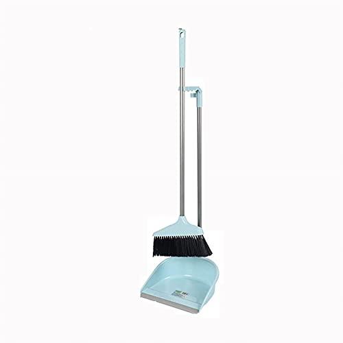 SHTFFW Dustpan Cepillo Set Rod Broom Es Broom Set Multifuncional Broom Blue Pink Limpieza (Color: Azul)