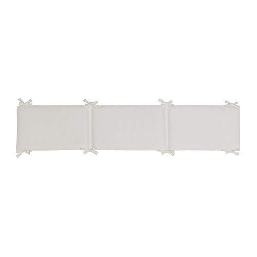 Interbaby Tour de Lit Bébé Coton Seul Couleur Beige 40 x 226 cm