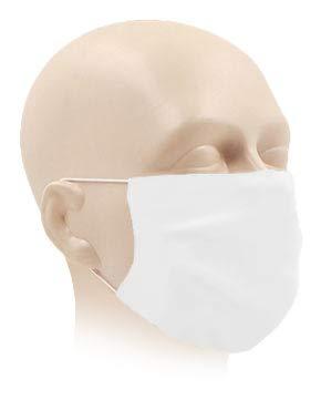 Karteo Gesichtsmaske weiß waschbar | Maske für Mund und Nase atmungsaktiv | Mundmaske aus zertifiziertem Oeko TEX 100 Microfaser schnell trocknend und saugfähig