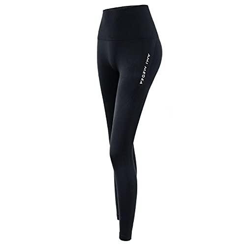 ShFhhwrl Mujer Leggins Legging Deportivo Pantalones De Yoga De Entrenamiento De Cintura Alta Transpirables Medias Sexis De Color Sólido Push Up Running Gym Leg