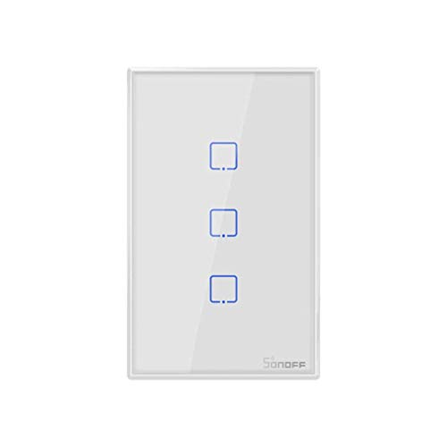 Sonoff T1 Touch us 3gang Smart WiFi Switch Light Amortiguador...