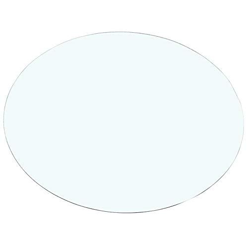 Encimera de vidrio templado de 78 cm de diámetro, mesa redonda, mesa giratoria, mesa de comedor para el hogar, escritorio, mesa de centro, escritorio, mesa de cristal, adecuada para el hogar