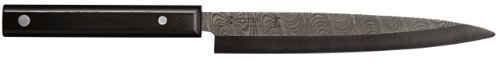 Kyocera Advanced Ceramic Kyotop Damascus 8.25 inch Sashimi Knife with Pakka Wood Handle, Black Blade