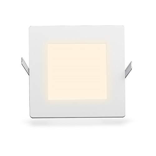 Ultraslim LED panneau rectangulaire encastré blanc chaud 21W 1501LM (W) Ø 203 mm