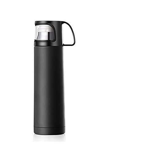 MJJCY Thermos Cup Thermos Tazza Tazza sottovuoto 304 in Acciaio Inox Tazza isolata 500ml Bottiglia Termica termoseste Bottiglia di aspirapolvere Bottiglia di Acqua (Capacity : 500ML, Color : Black)