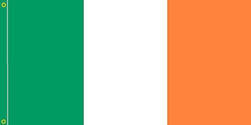 DURABOL Bandera de Irlanda flag 90x150cm SATIN 2 anillas metálicas fijadas en el dobladillo