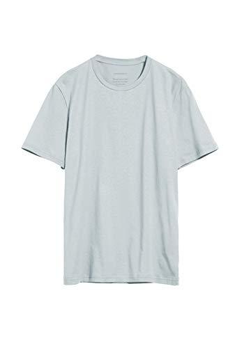 ARMEDANGELS JAAMES - Herren T-Shirt aus Bio-Baumwolle L Belgian Blue Shirts T-Shirt Rundhals Regular fit