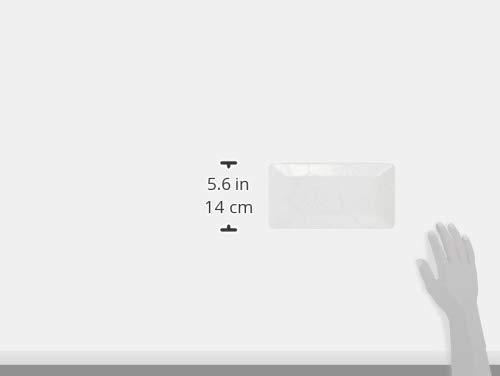 西海陶器 波佐見焼 はふり 長角皿 ペア 桃白 52860 25cm