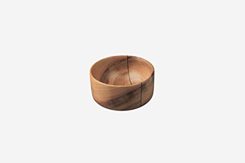 Porte-savon en bois de noyer de 9 cm de diamètre