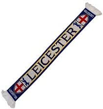 Leicester City FC Soccer Fan Scarf Premium wholesale Acrylic Knit New mail order