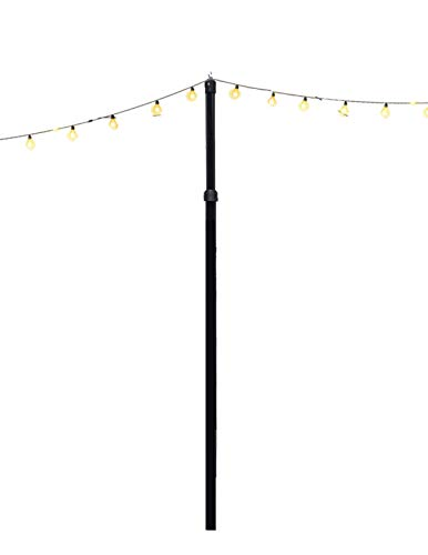 H2Owners LLC Outdoor String Light Pole, Adjustable Height (up to 10'), Durable, Weather-Resistant, Lawn Mount Kit
