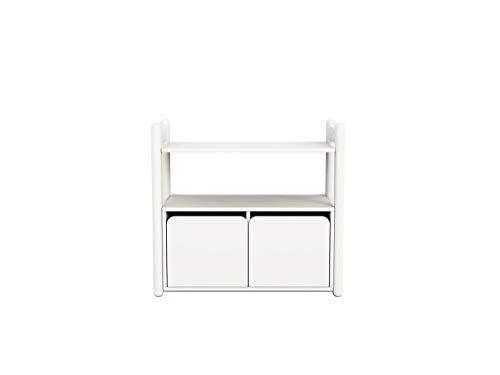 FLEXA Shelfie Mini C Kommode mit 2 Türen Rahmen Weiß Natur oder Terra 81-26402-40