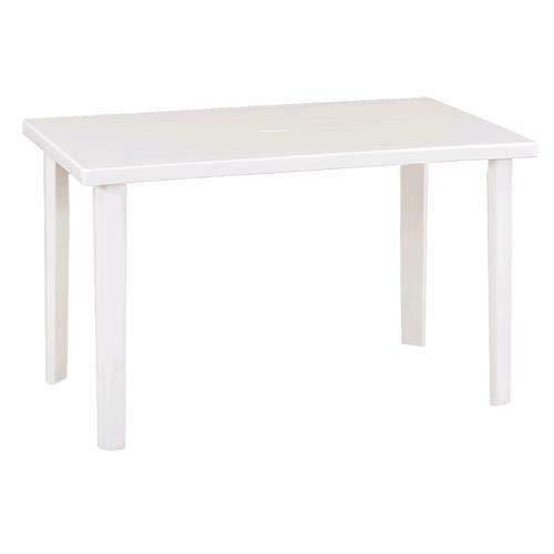 Tavolo da giardino in resina bianco tavolo per esterni rettangolare 120 x 70 centimetri