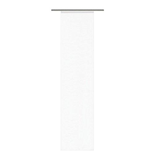 Home Fashion 87141-810 ROM - Cortina corredera (245 x 60 cm, Lados Cortados con láser), Color Blanco