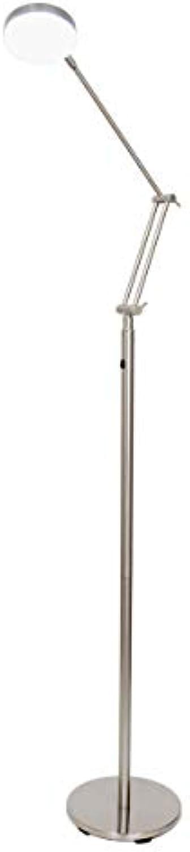 LED Stehleuchte, Relon F, tageslichtwei, 4,5 W, nickel matt, 10441