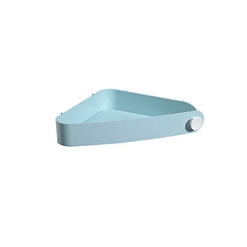 SCDZS Arrinconado-Triple nuevo estante de la esquina Baño de montaje en pared almacenaje de la esquina del estante del sostenedor, fuerte succión de montaje en pared estante de baño Cocina Fácil de in