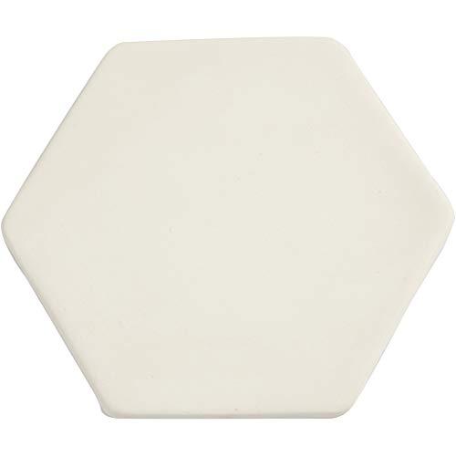 Kunst tegel, d: 13 cm, dikte 0,7 cm, wit, 1stuk