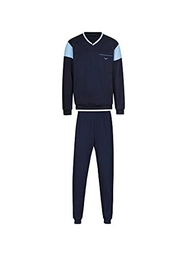 Trigema 637708S Juego de Pijama, Azul Marino, 4X-Large para Hombre