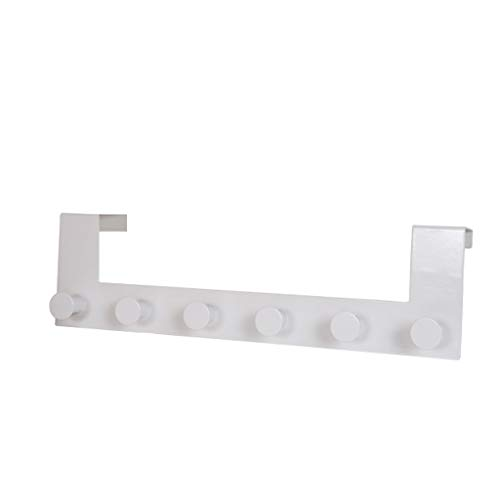 Over Door Hook - 6 Coat Hooks Pegs - No Drill Towel Rack for Bathroom Storage Closet - Behind The Door Organizer Clothes Rack - Shoe Or Hat Holder - Office Cubicle Purse Hanger 【Ship from USA 】