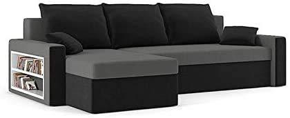 Modernes Mode-kreatives Ecksofa verfügt über 2 Bett-Boxen im Schlaf, 3 Kissen,D
